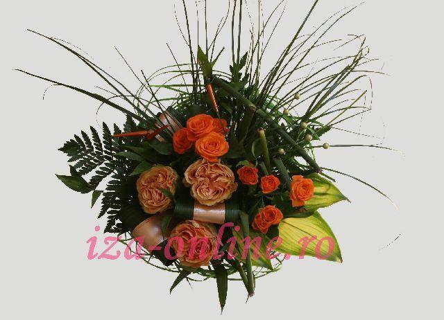 Clic pentru a vedea imaginea mărită Buchet asortat din trandafiri