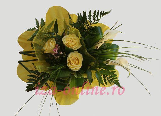 Clic pentru a vedea imaginea mărită Buchet din trandafiri si cale