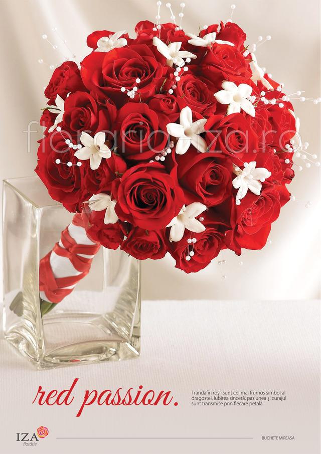 Clic pentru a vedea imaginea mărită Red passion - Buchet de mireasa