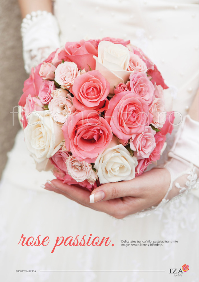 Clic pentru a vedea imaginea mărită Rose passion - Buchet de mireasa