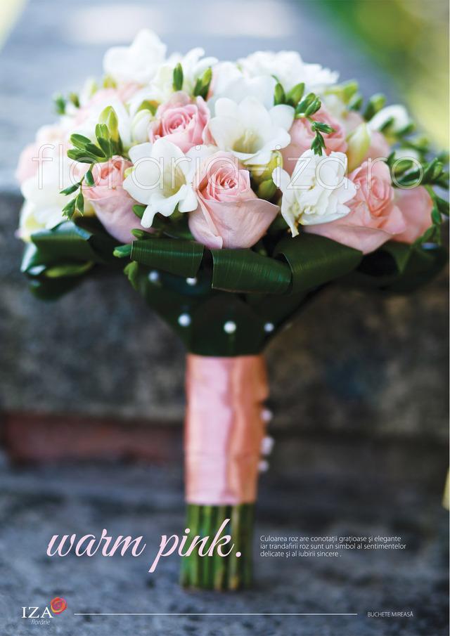 Clic pentru a vedea imaginea mărită Warm pink- Buchet de mireasa