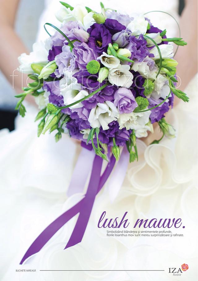 Clic pentru a vedea imaginea mărită Lush mauve - Buchet de mireasa
