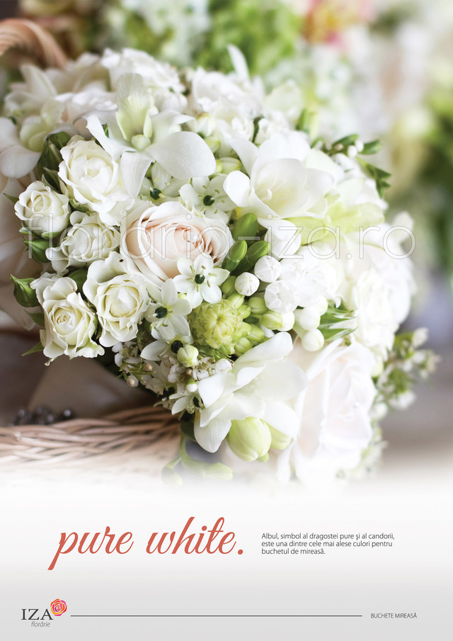 Clic pentru a vedea imaginea mărită Pure white - Buchet de mireasa
