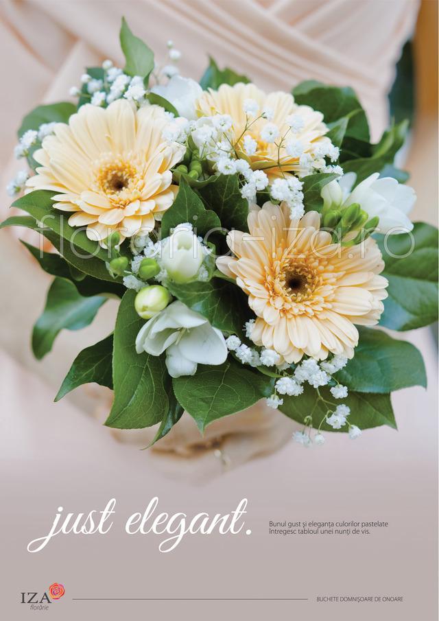 Clic pentru a vedea imaginea mărită Just elegant - Buchet domnisoara de onoare