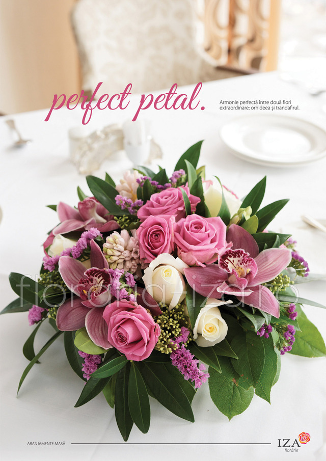 Clic pentru a vedea imaginea mărită Perfect petal - Aranjament de masa