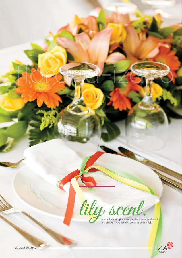 Clic pentru a vedea imaginea mărită Lily scent - Aranjament de masa