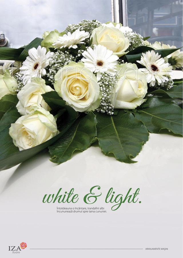 Clic pentru a vedea imaginea mărită White & light - Aranjament pentru masina