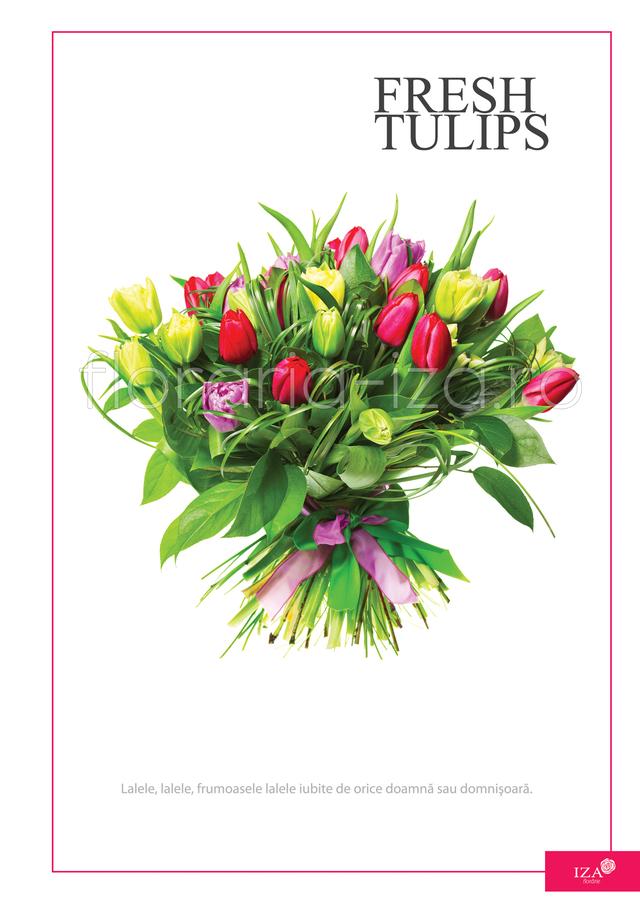 Clic pentru a vedea imaginea mărită Buchet de lalele multicolor - Fresh tulips