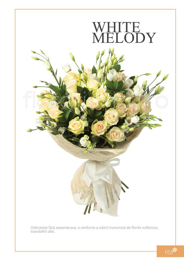 Clic pentru a vedea imaginea mărită Buchet transdafiri - White melody