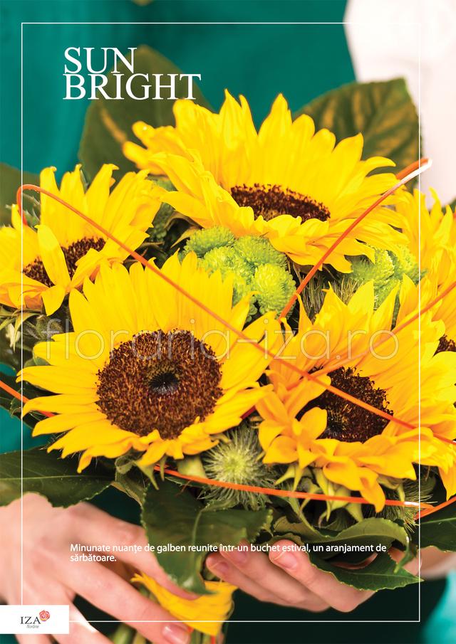 Clic pentru a vedea imaginea mărită Buchet asortat - Sun bright