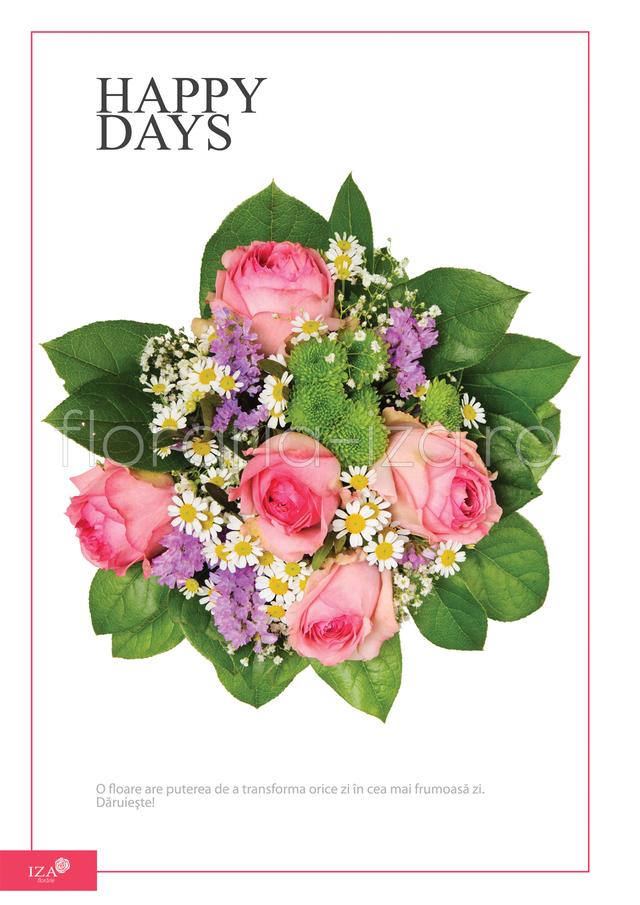 Clic pentru a vedea imaginea mărită Buchet asortat - Happy days