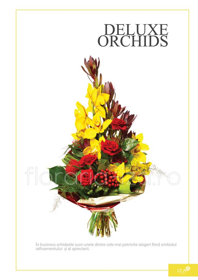 Clic pentru a vedea imaginea mărită Buchet asortat - Deluxe orchids