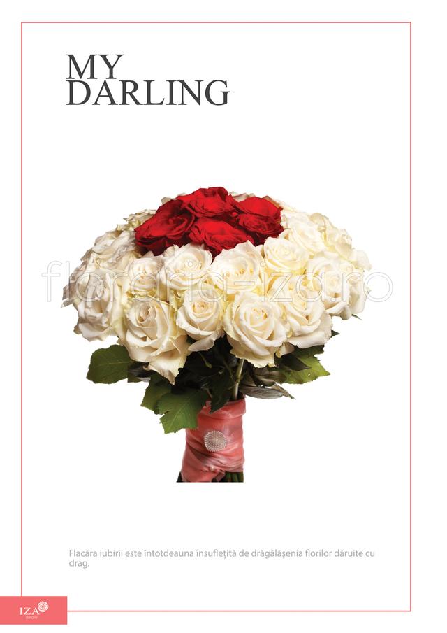 Clic pentru a vedea imaginea mărită Buchet din 39 de trandafiri - Din dragoste