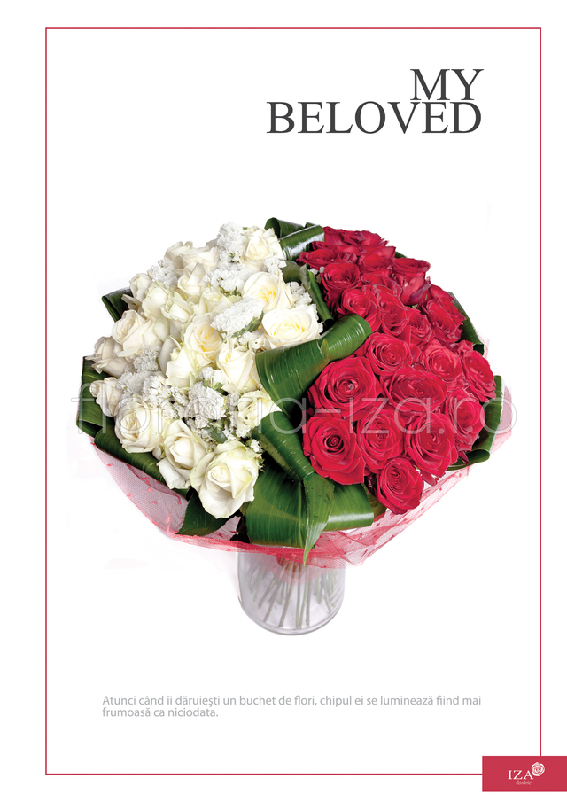 Clic pentru a vedea imaginea mărită Buchet din 43 de trandafiri - My beloved