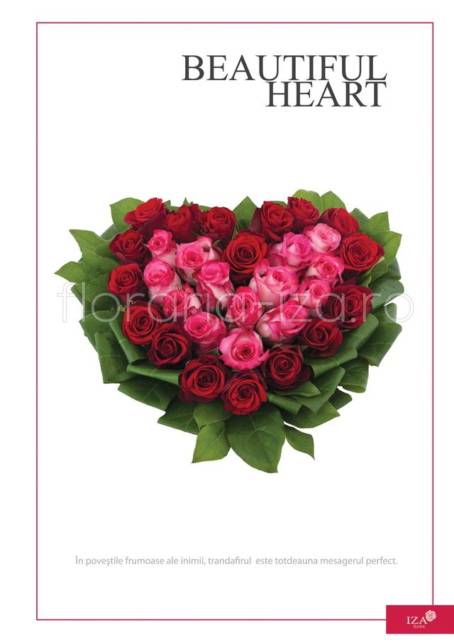 Clic pentru a vedea imaginea mărită Aranjament din trandafiri - Beautiful heart