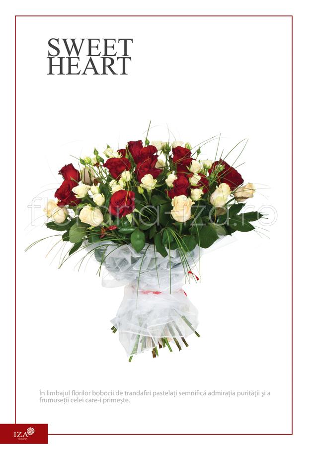 Clic pentru a vedea imaginea mărită Buchet de trandafiri - Sweet heart