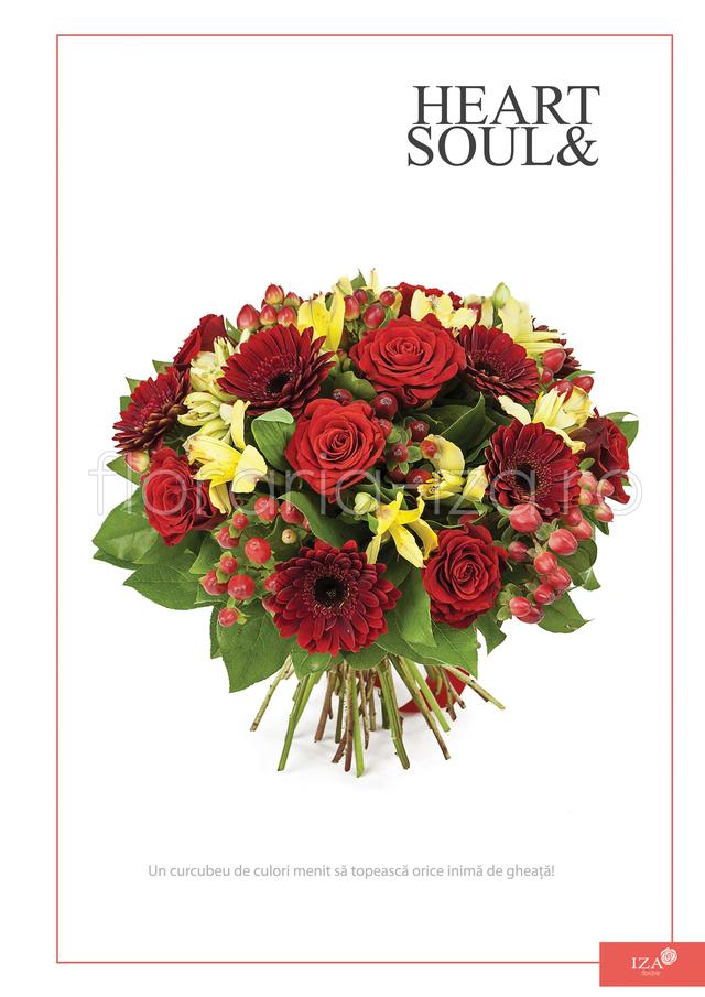 Clic pentru a vedea imaginea mărită Buchet asortat - Heart & Soul