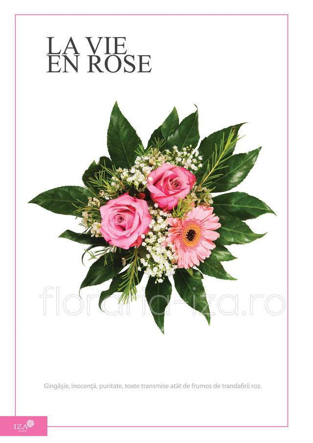 Clic pentru a vedea imaginea mărită Buchet asortat - La vie en rose