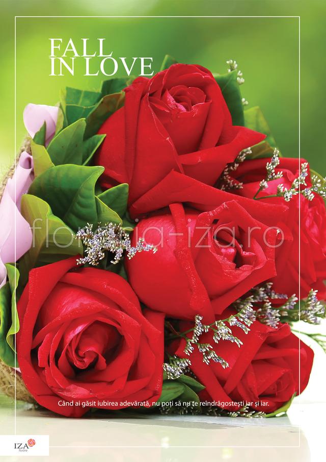 Clic pentru a vedea imaginea mărită Buchet trandafiri - Fall in love
