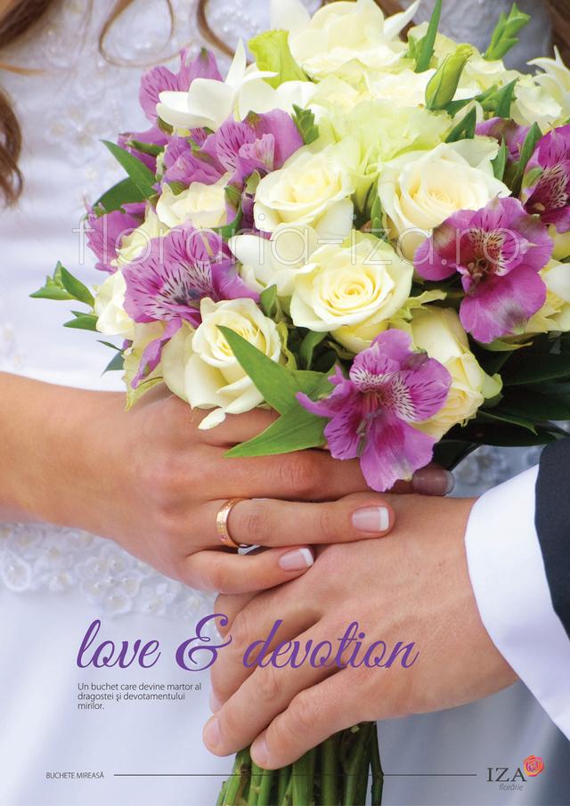 Clic pentru a vedea imaginea mărită Love & devotion - Buchet de mireasa