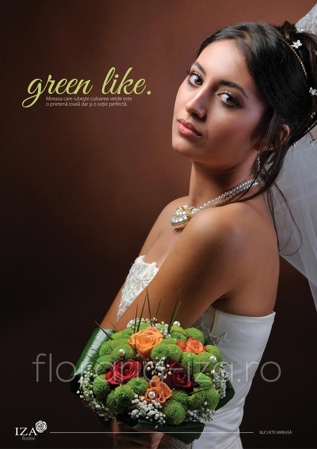 Clic pentru a vedea imaginea mărită Green like - Buchet de mireasa