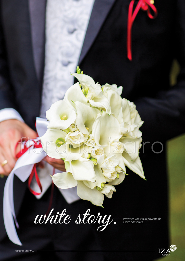 Clic pentru a vedea imaginea mărită White story - Buchet de mireasa