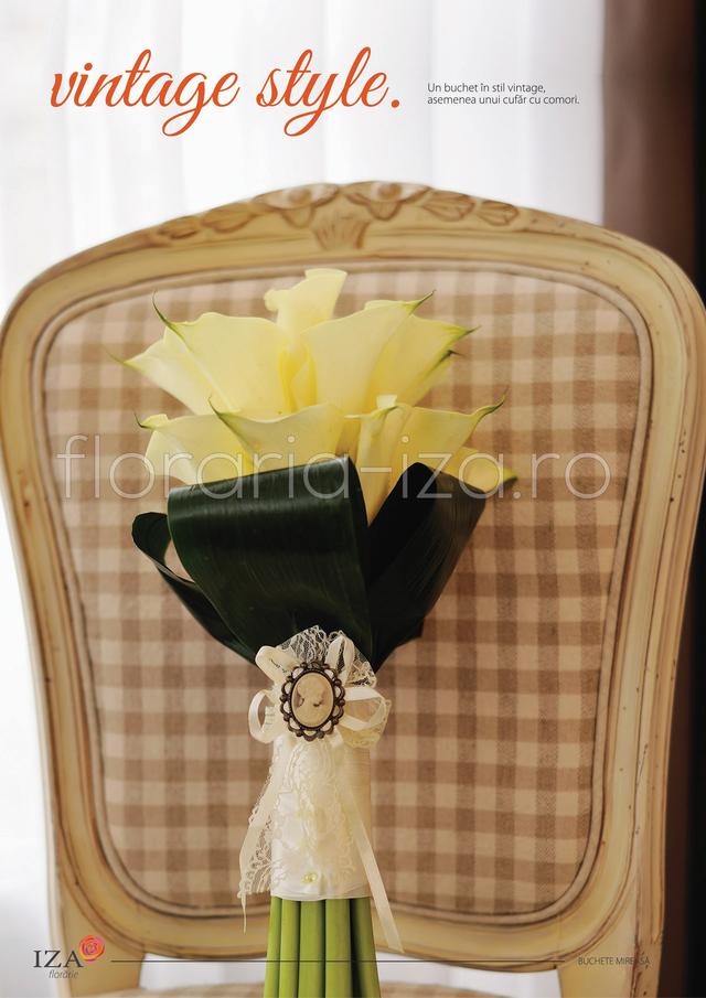 Clic pentru a vedea imaginea mărită Vintage style - Buchet de mireasa