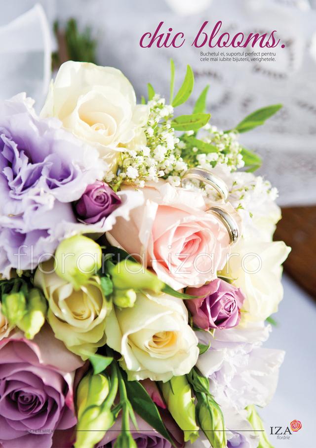 Clic pentru a vedea imaginea mărită Chic blooms - Buchet de mireasa