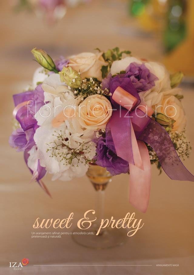 Clic pentru a vedea imaginea mărită Sweet & pretty - Aranjament de masa